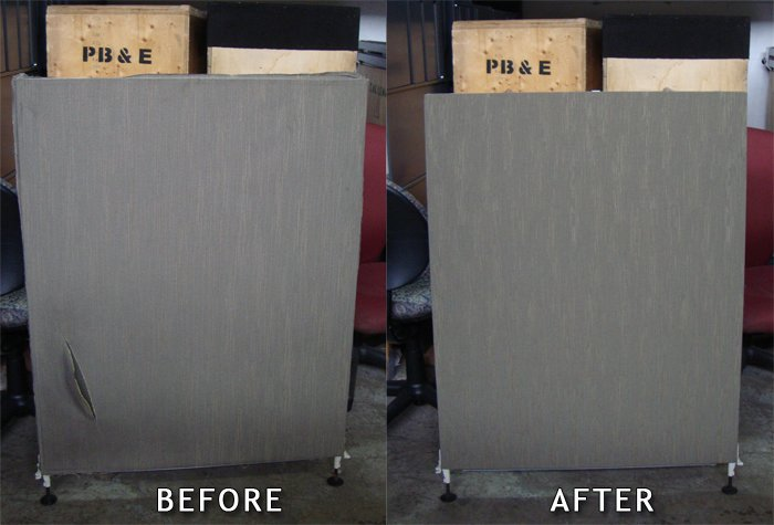 Example of before and after office furniture refurbishing